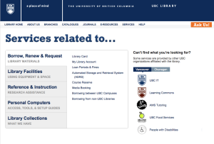 Services Portal screenshot