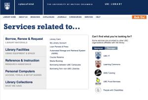Services Portal screenshot
