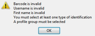 Evergreen Example Error Message