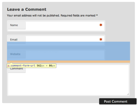 Quick Fix Comments Form