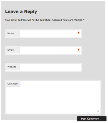 WordPress TwentyEleven Comments Form