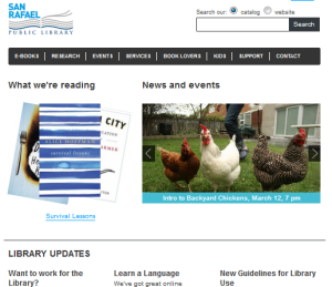 San Rafael Public Library Front page