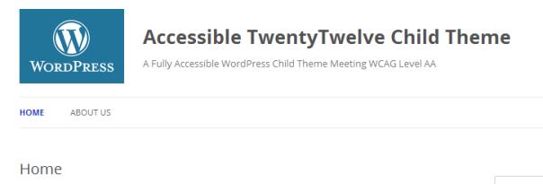 wp theme 2012 dev header