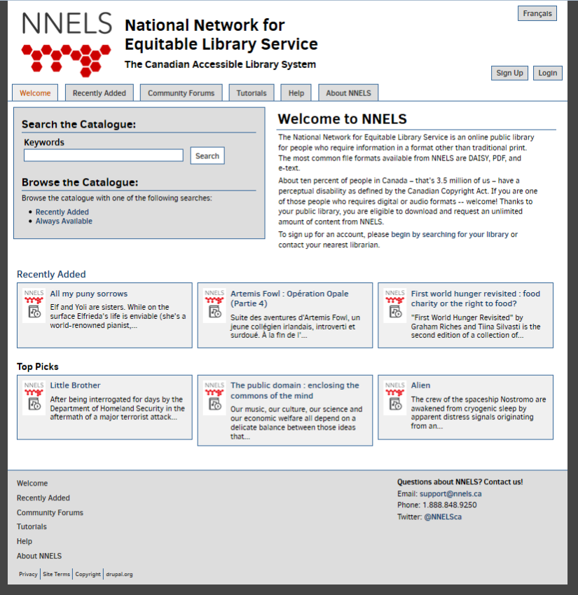 Making the NNELS Site Responsive